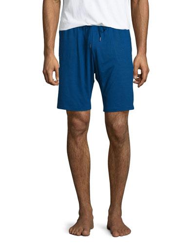 Jersey Drawstring Lounge Shorts, Blue