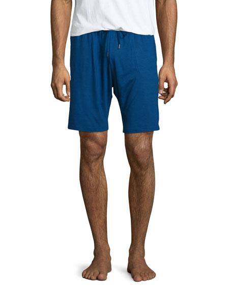 Jersey Drawstring Lounge Shorts, Blue
