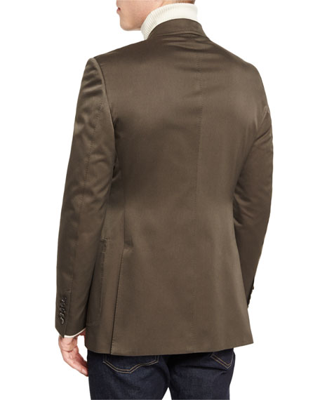 O'Connor Base Gabardine Sport Jacket, Olive