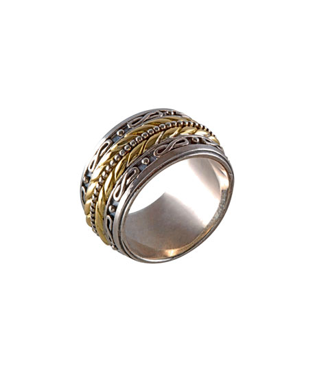 Konstantino 18K Gold & Sterling Silver Band Ring