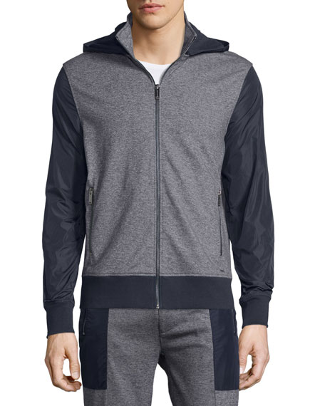 Michael Kors Jaspe Colorblock Zip-Up Hoodie