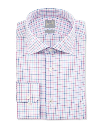 Multicolor Check Dress Shirt, Pink
