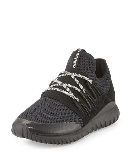 Adidas Men's Tubular Radial Trainer Sneaker, Black