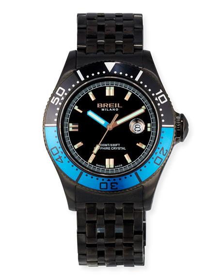 Manta 1970 Stainless Steel Watch, Black