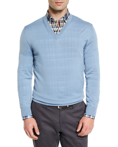 Ermenegildo Zegna Plaid Long-Sleeve Sport Shirt, High-Performance
