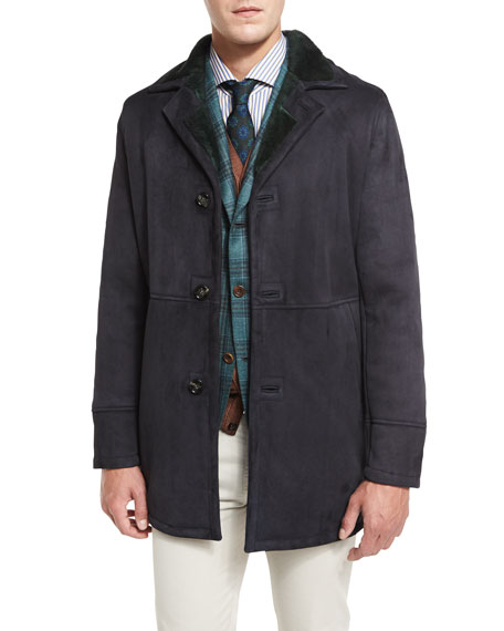 Kiton Leather Coat, Sport Coat, and Vest &