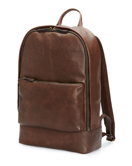 Frye Chris Calf Leather Backpack, Chocolate