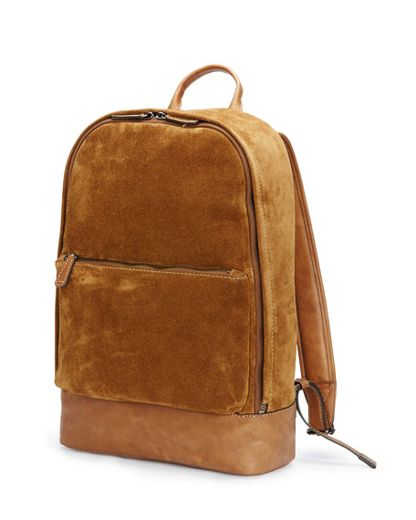 Chris Suede Backpack, Sand