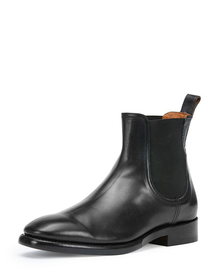 Frye Men's Weston Leather Chelsea Boot, Black