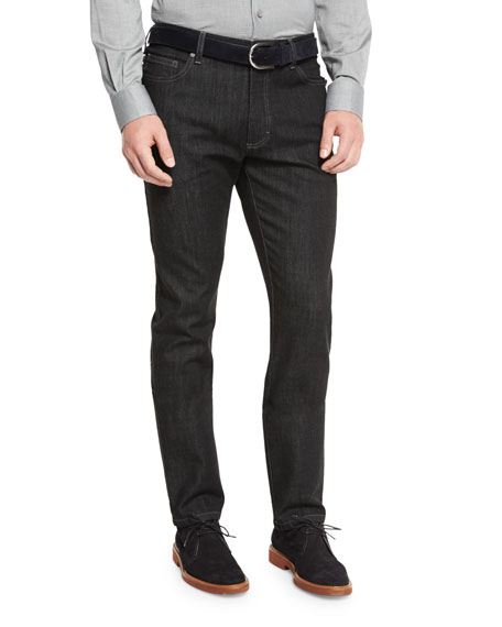 Ermenegildo Zegna Five-Pocket Stretch-Denim Jeans, Zegna Zen Wool