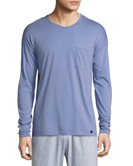 Hanro Paolo Long-Sleeve Shirt, Infinity