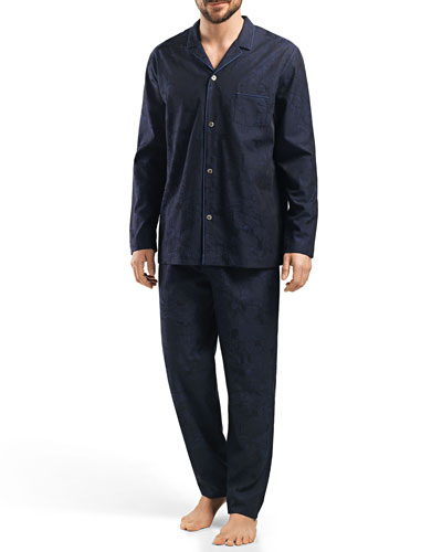 Raffael Patterned Jacquard Pajamas