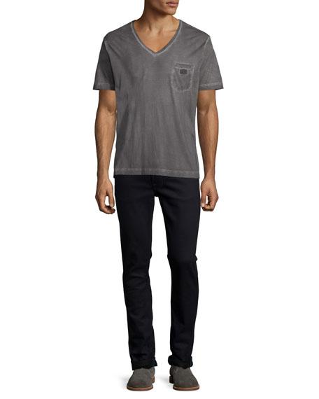 Lean Dean Dry Black Indigo Skinny Jeans, Black