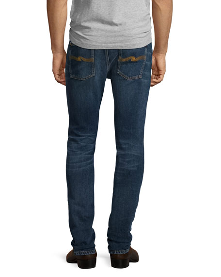 Lean Dean Deep Dark Indigo Skinny-Leg Jeans, Blue