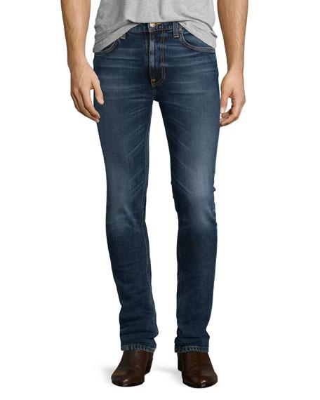Nudie Lean Dean Deep Dark Indigo Skinny-Leg Jeans,