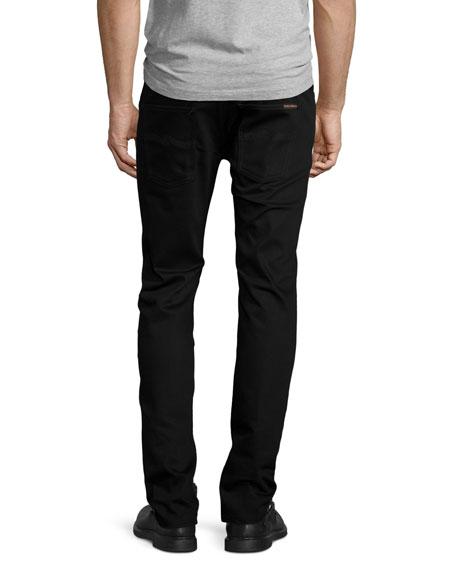 Nudie Thin Finn Dry Cold Black Denim Jeans, Black