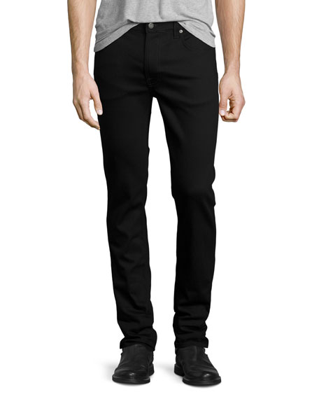 Nudie Thin Finn Dry Cold Black Denim Jeans,