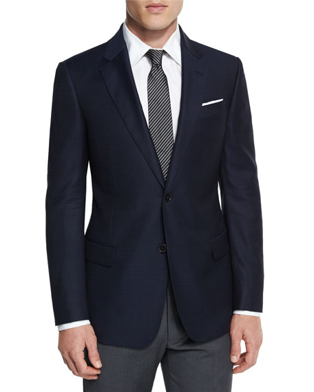 G-Line New Textured Two-Button Sport Jacket, Navy