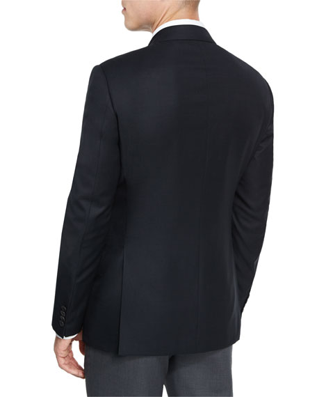 G-Line New Textured Two-Button Sport Jacket, Black