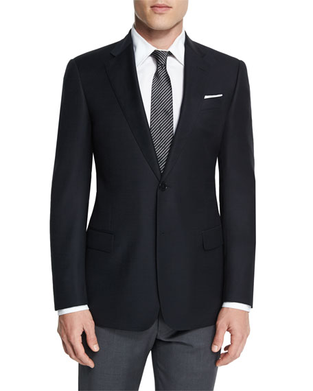 Armani Collezioni G-Line New Textured Two-Button Sport Jacket,