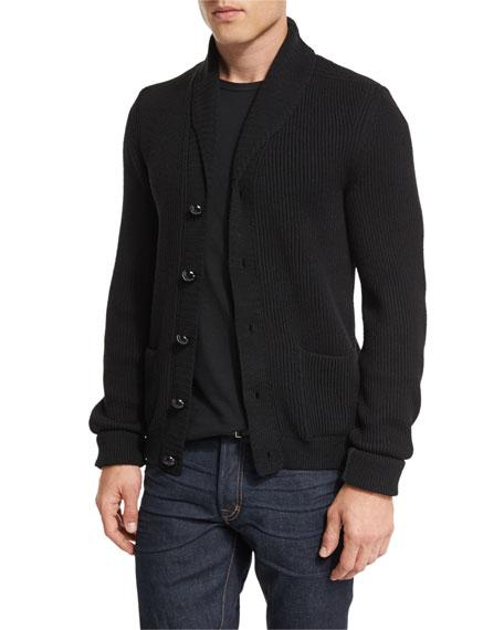 Iconic Shawl-Collar Cardigan, Black