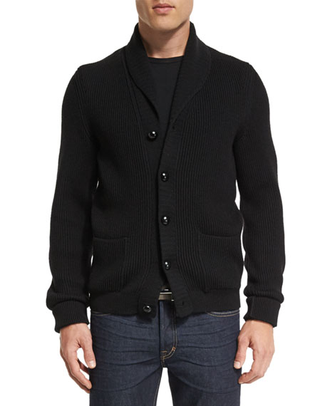 Iconic Shawl-Collar Cardigan, Black