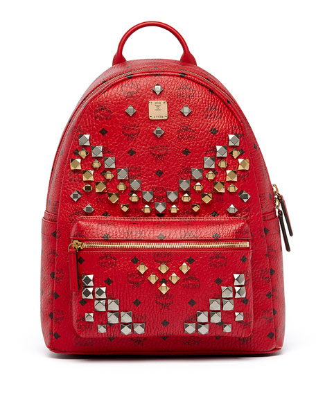 belt for men designer 29x9  Stark Men's Stud Medium Backpack, Ruby Red