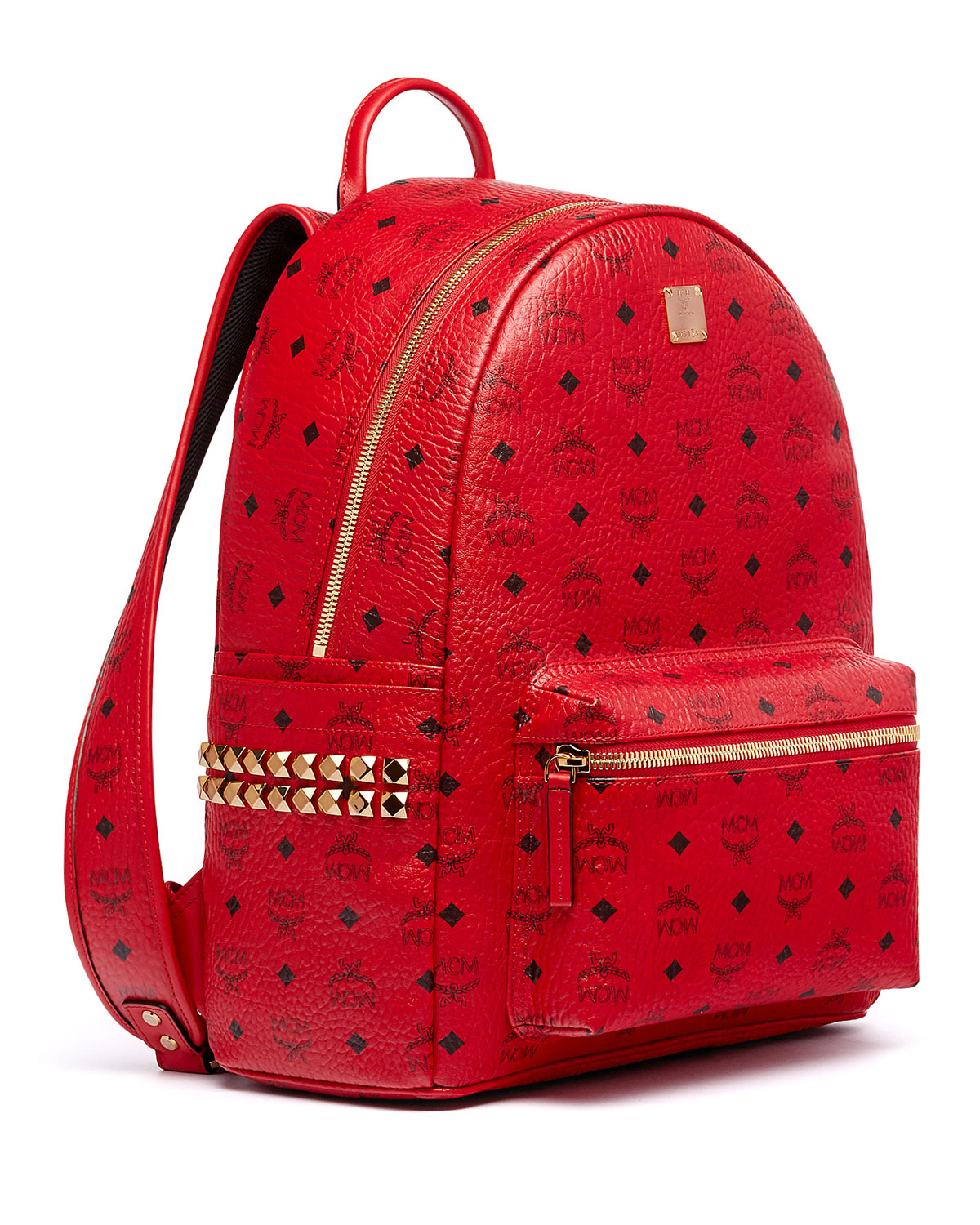 Stark Men S Side Stud Medium Backpack Ruby Red