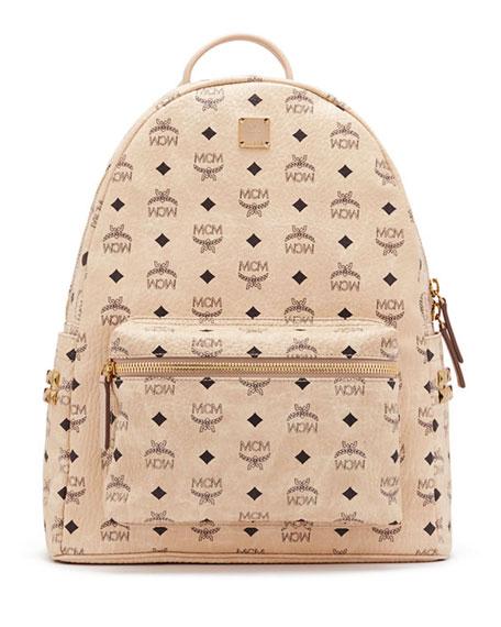 mcm stark men 39 s side stud medium backpack beige. Black Bedroom Furniture Sets. Home Design Ideas