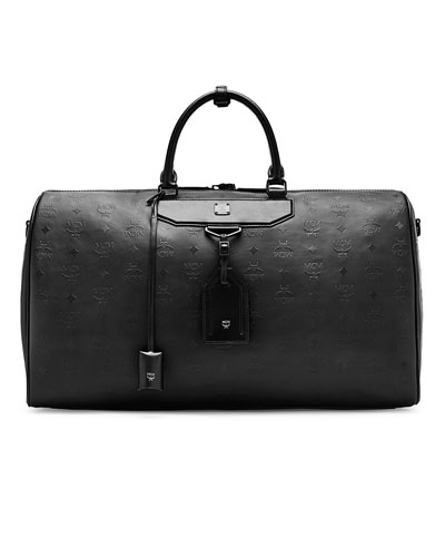 Nomad Men's Coated Large Leather Weekender Bag, Black