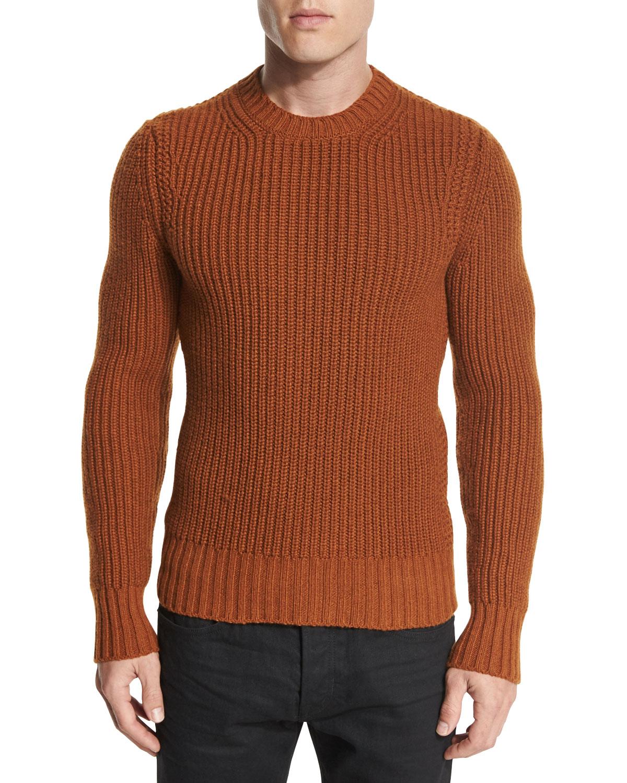 c0863c8ba174 TOM FORD Fisherman Ribbed Crewneck Sweater