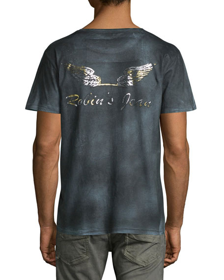 Distressed & Faded Logo T-Shirt