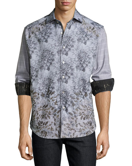 Robert Graham Limited Edition Theories Floral-Print Sport Shirt,