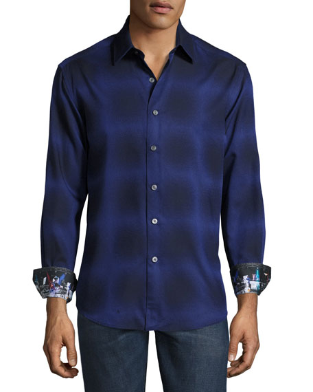 Robert Graham Dark Energy Sport Shirt, Dark Purple