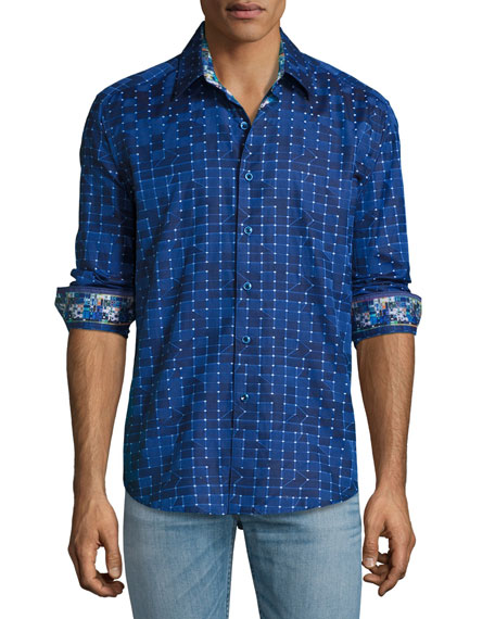 Robert Graham Dark Matter Sport Shirt, Navy