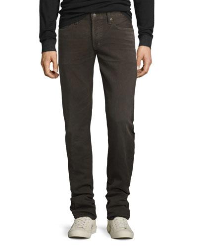 Five-Pocket Corduroy Pants, Brown