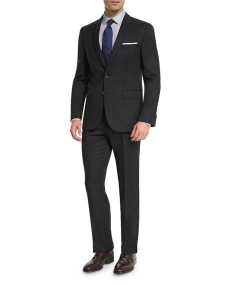 BOSS Johnstons Lennon Tonal-Grid Slim-Fit Basic Suit, Black