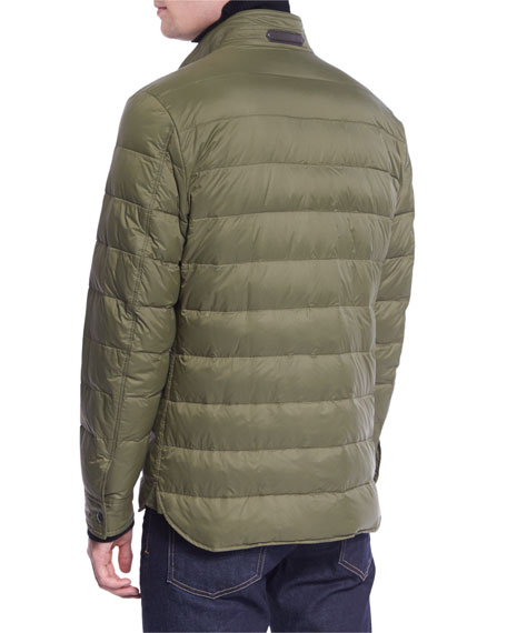 Down Shirt Jacket, Green