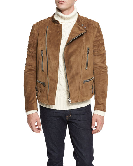 TOM FORD Caf?? Quilted Suede Biker Jacket