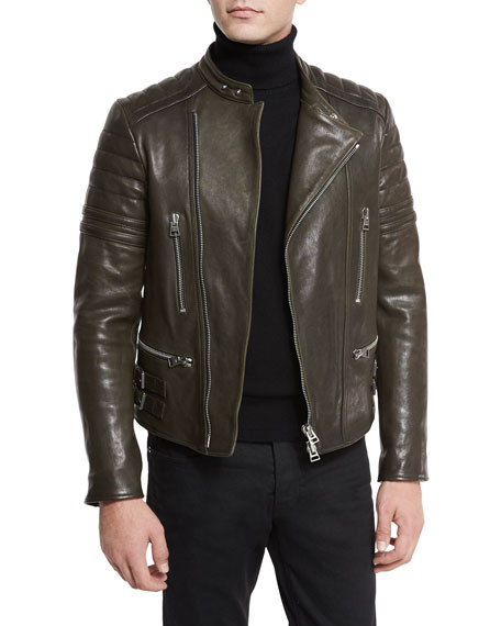 TOM FORD Icon Quilted Leather Biker Jacket