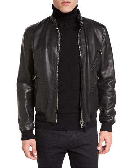 TOM FORD Icon Leather Biker Blouson Jacket
