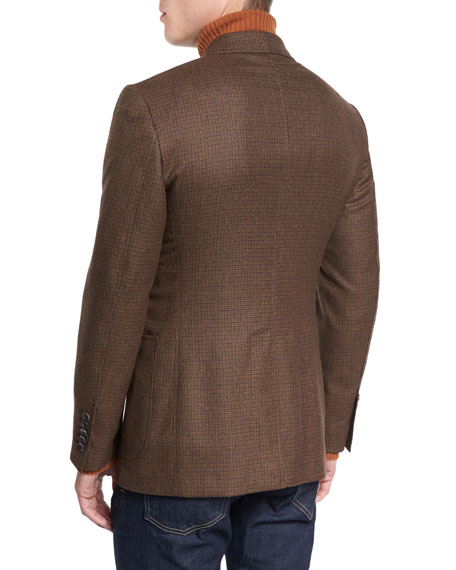 O'Connor Base Box-Check Sport Jacket, Rust