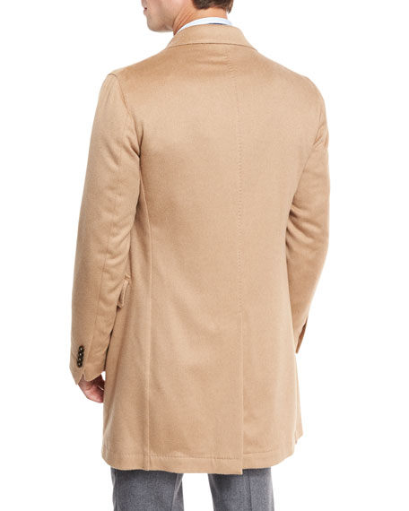 Camel-Hair Single-Breasted Topcoat