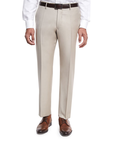 Super 150s Wool Trousers, Tan