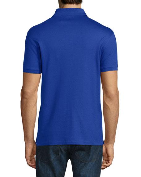 Ralph lauren snap zip pique polo shirt cobalt blue for Cobalt blue polo shirt