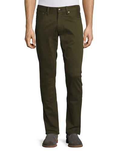 Five-Pocket Pants, Olive