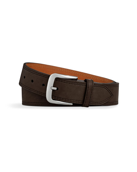 Essex Double Stitch Leather Belt