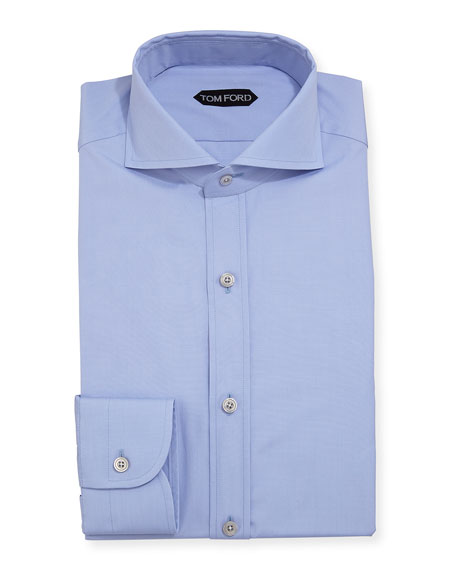Yarn-Dyed Fine Poplin Dress Shirt