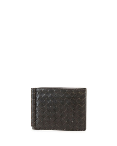 Bottega Veneta Basic Woven Wallet with Money Clip