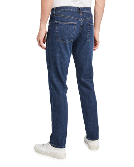 Kane Straight-Leg Pima Cotton-Blend Jeans, Hood